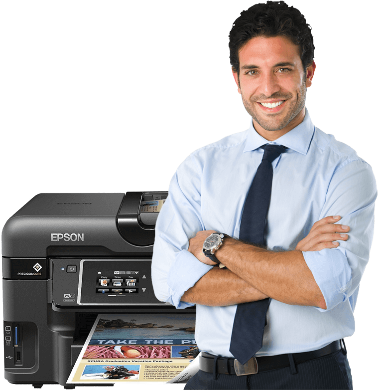 man-printer